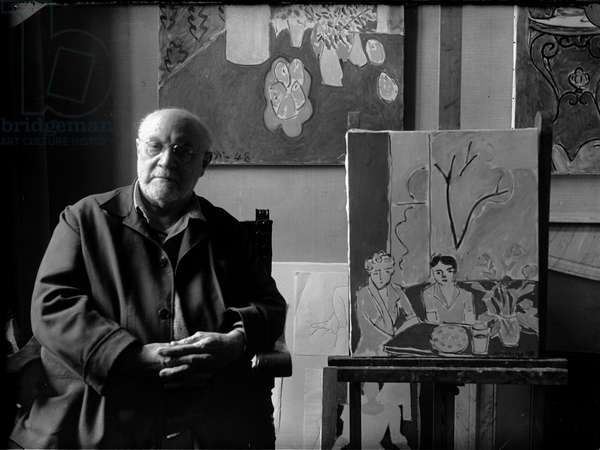 Henri Matisse (b/w photo)
