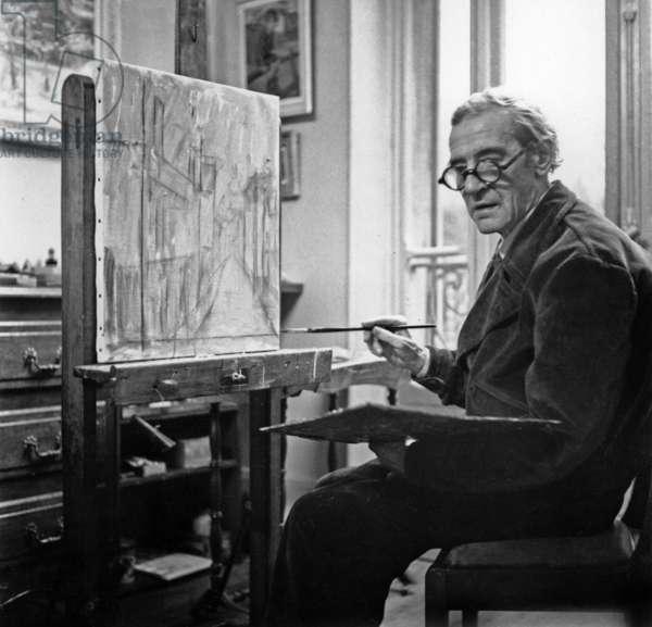 Maurice Utrillo (b/w photo)