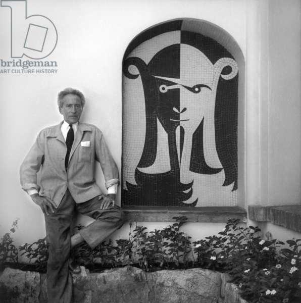 Jean Cocteau in c.1955 (b/w photo)