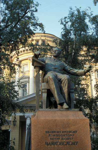 Statue of Tchaikovsky outside