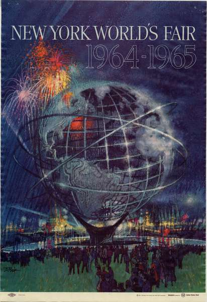 New York World's Fair 1964-1965, 1961-62 (colour litho)
