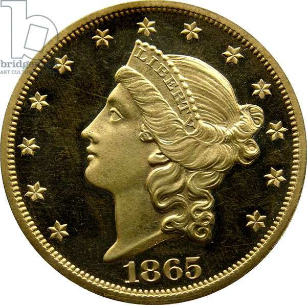 20 Dollars, 1865 (gold) (obverse of 5858170)