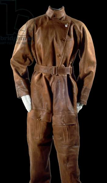 Amelia Earhart's Flight Suit, c.1920 (leather with wool, plastic & metal)