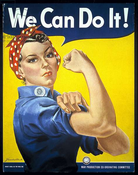 We Can Do It!, 1942 (colour litho)