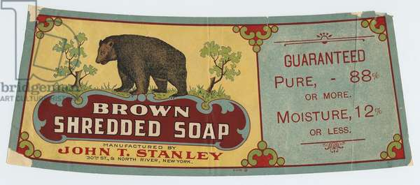 """Brown Shredded Soap"" manufactured by John T. Stanley (colour litho)"