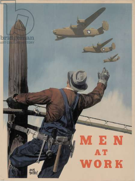 Men at Work, 1941-45 (colour litho)