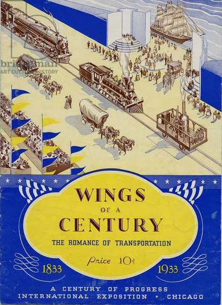 Wings of a Century, the Romance of Transportation, 1833-1933, 1933 (colour litho)