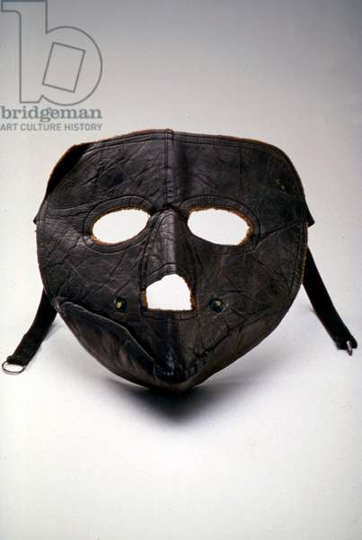 Airmail Pilot's Protective Mask, 1918-19 (leather)