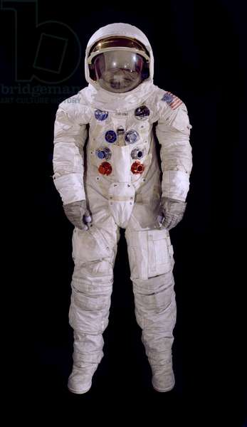 Pressure Suit, A7-L, Armstrong, Apollo 11, Flown, 1969 (mixed media)
