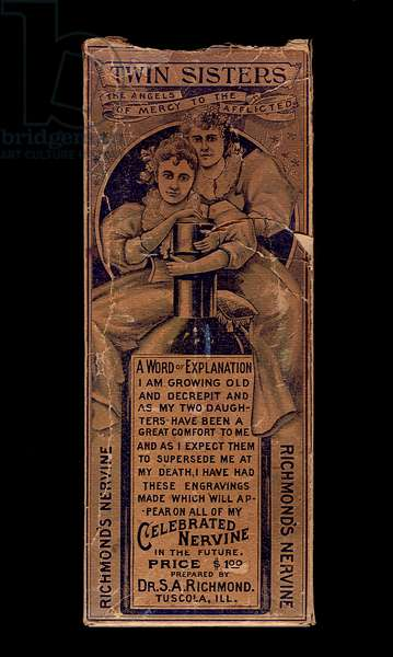 Packaging for Richmond's Celebrated Nervine, 1898-1902 (printed cardboard)