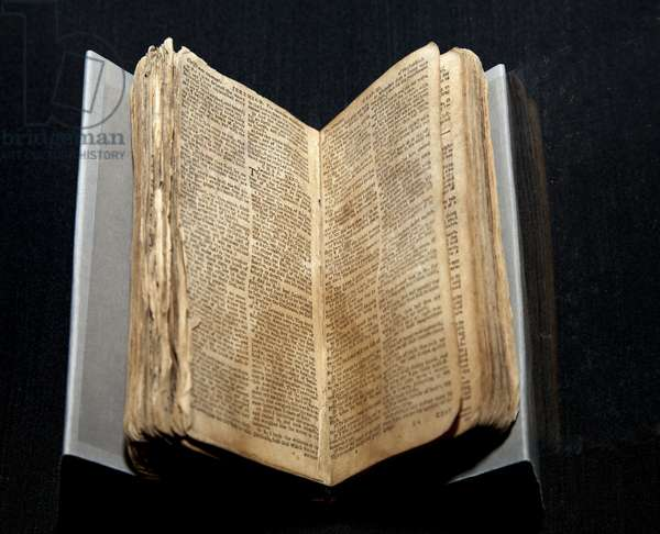 Bible belonging to Nat Turner (photo)