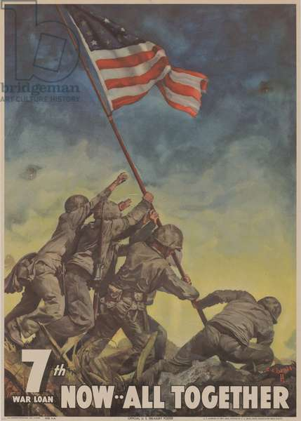 7th War Loan. Now… All Together, 1945 (colour litho)