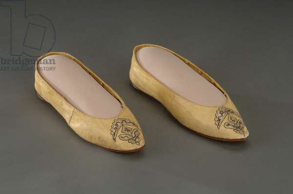 Abigail Adam's Slippers, c.1790 (leather)