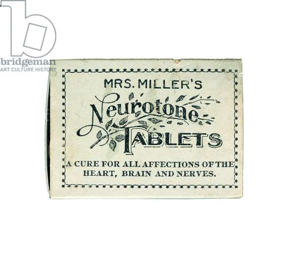 Packaging for Mrs. Miller's Neurotone Tablets, after 1903 (printed cardboard)