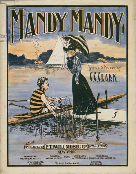 """Mandy Mandy"", words and music by Charles Clinton Clark, 1901 (colour litho)"