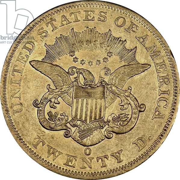 20 Dollars, 1860 (gold) (reverse of 5858165)