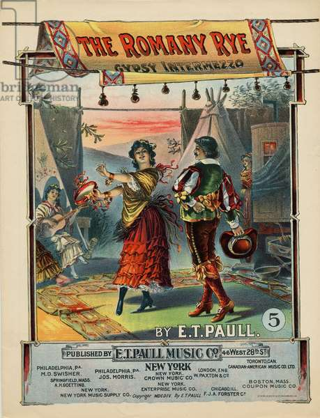 """The Romany Rye"", composed by E. T. Paull, 1904 (colour litho)"