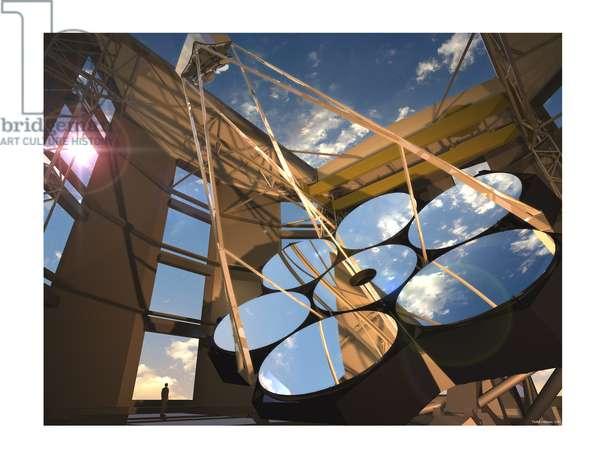Artist's rendering of the planned Giant Magellan Telescope, 2005 (digital)