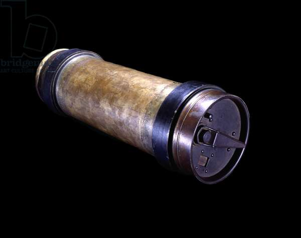 Pneumatic tube canister, 1953 (metal)