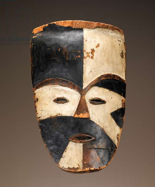Face mask (polychrome wood)