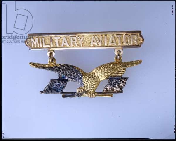 Thomas Dewitt Milling's Military Aviator's Badge, 1912 (metal)