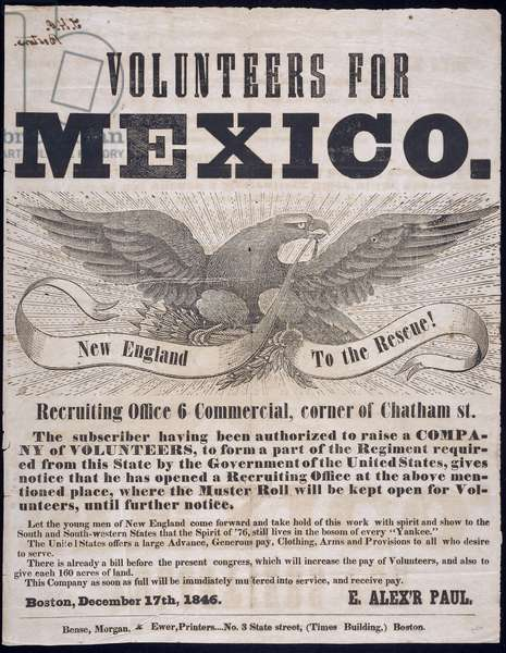 Volunteers for Mexico, 1846 (newsprint)