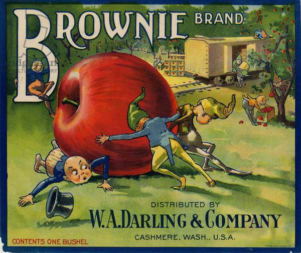 Brownie Brand Apples, Distributed by W.A. Darling & Company, Cashmere, Wash., U.S.A. (colour litho)