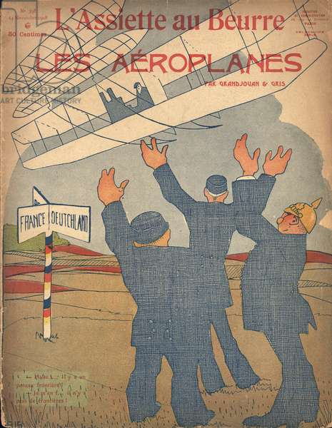 Les Aéroplanes, issue No. 398, 1908 (colour litho)