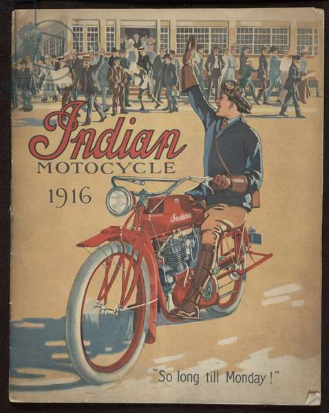 Indian Motocycle, Hendee Manufacturing Co. Springfield, Mass., 1916 (colour litho)