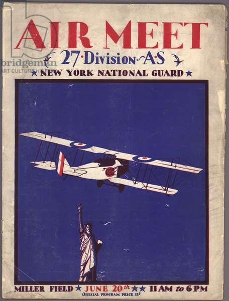 Air Meet Program Cover (colour litho)