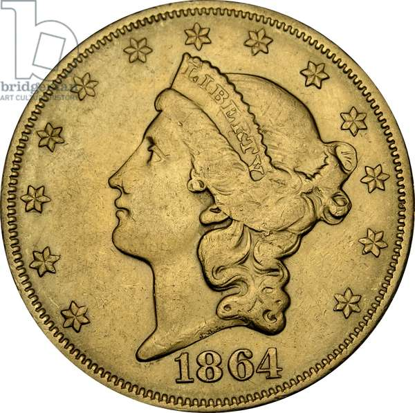 20 Dollars, 1864 (gold) (obverse of 5858159)