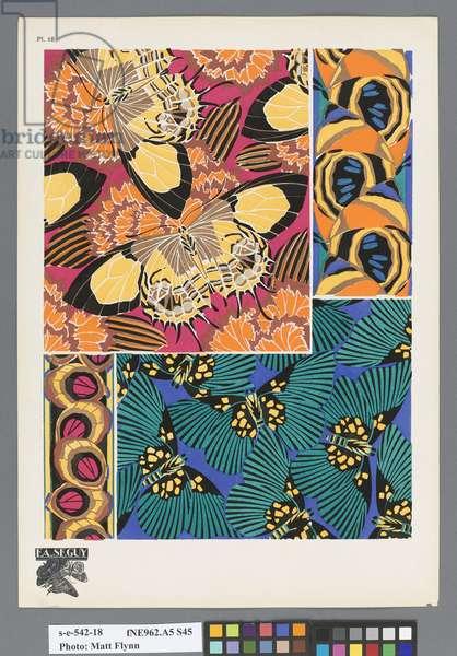 Papillons, c.1925 (pochoir print)