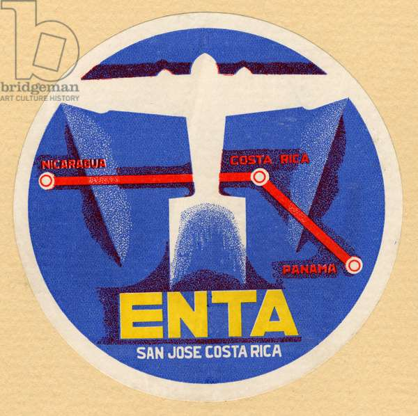 ENTA baggage label (colour litho)