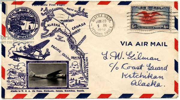 """Pan-Pacific First Flight"" First Day Cover, 1940 (envelope with stamp & postmark)"