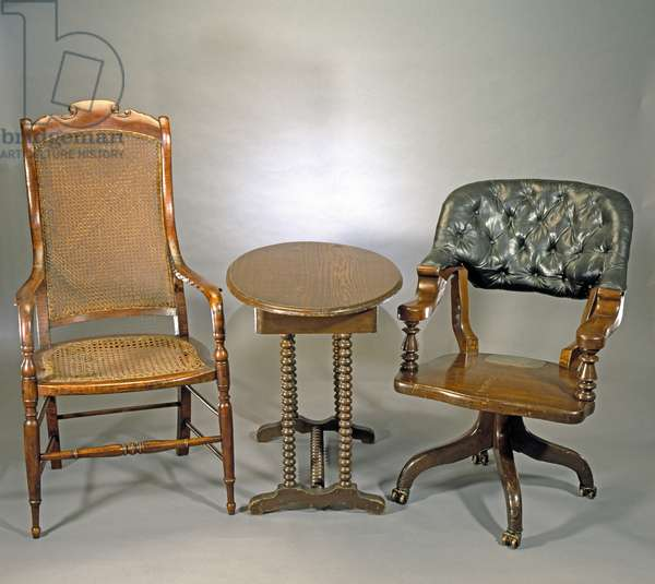 Furniture used by Grant and Lee at Appomattox, c.1861-65 (mixed media)