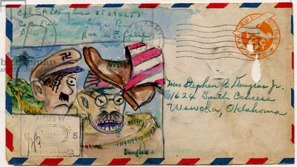 World War Two Envelopes, 1942-45 (w/c on paper)