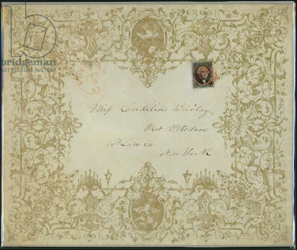 10-cent Washington Valentine Cover and Enclosure, 1848-51 (envelope with postage stamp)