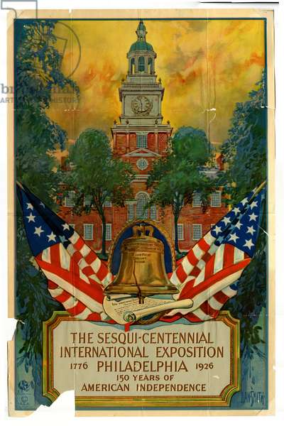 The Sesqui-Centennial International Exposition, Philadelphia, celebrating 150 Years of American Independence, 1776-1926, 1926 (colour litho)