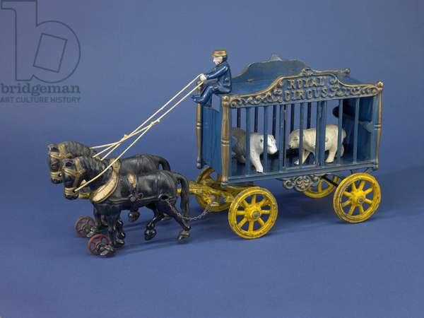 """Royal Circus"" circus wagon toy (cast iron)"