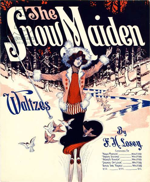 """""""The Snow Maiden,"""" composed by Frank H. Losey, 1920 (colour litho)"""
