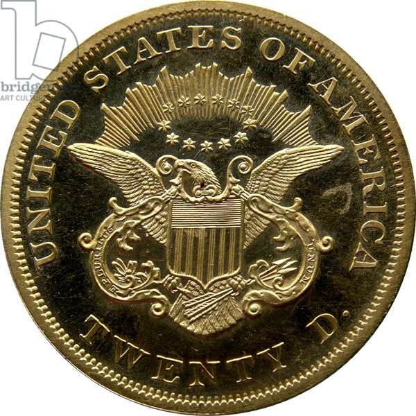 20 Dollars, 1865 (gold) (obverse of 5858171)