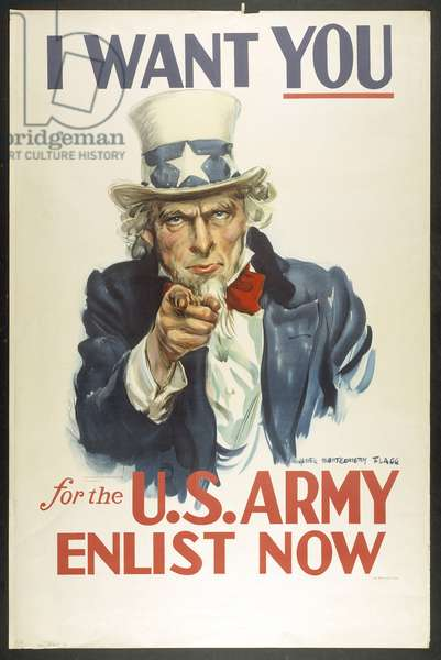 I Want YOU for the U.S. Army (colour litho)