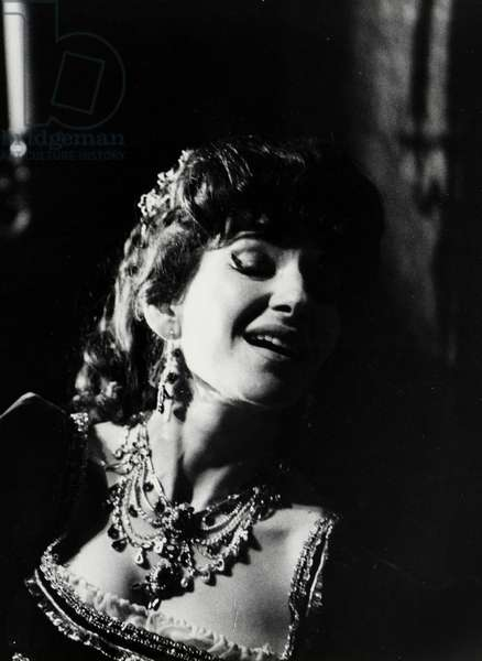 Maria Callas as Tosca in Franco Zeffirelli's production of the opera Tosca by Puccini