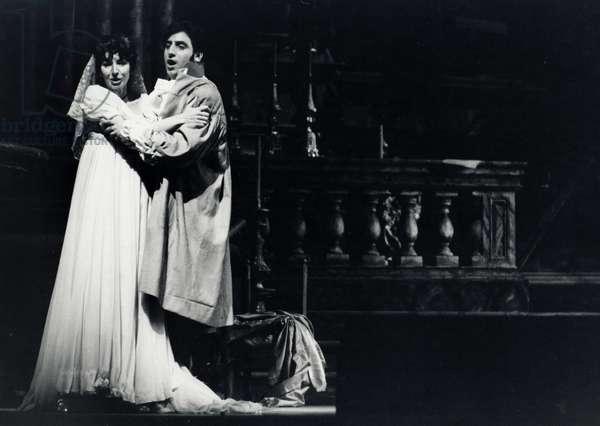 Maria Callas as Tosca and Renato Cioni as Cavaradossi in opera Tosca by Puccini
