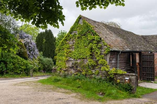 View of Sidney Nolan's studio, The Rodd, Herefordshire, UK (photo)