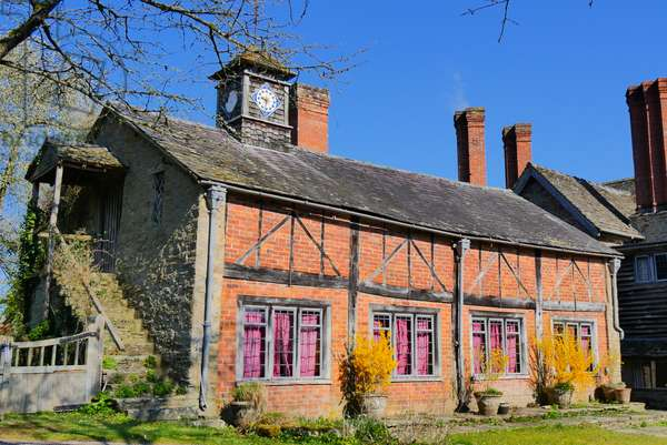 View of Rodd Court, residence of Sidney Nolan, Herefordshire, UK (photo)