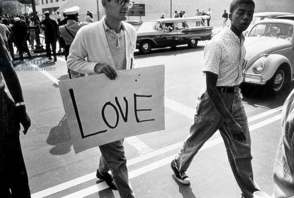 The March on Washington: Love, 28th August 1963 (b/w photo)