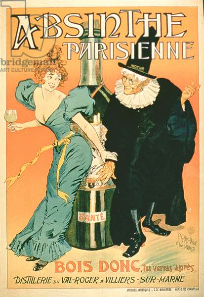 'So Drink, You'll See Later', poster advertising 'Parisian Absinthe' (colour litho)