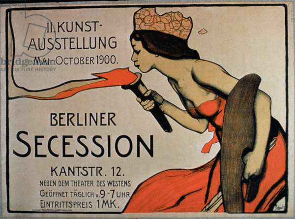 'Berlin Secession', Poster for the Exhibition from May-October 1900 (colour litho)