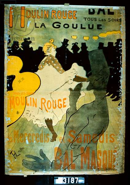 Moulin Rouge, La Goulue, 1891 (colour litho)